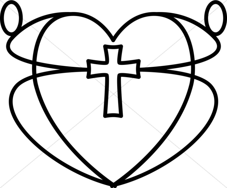 Black and White Graphic Heart