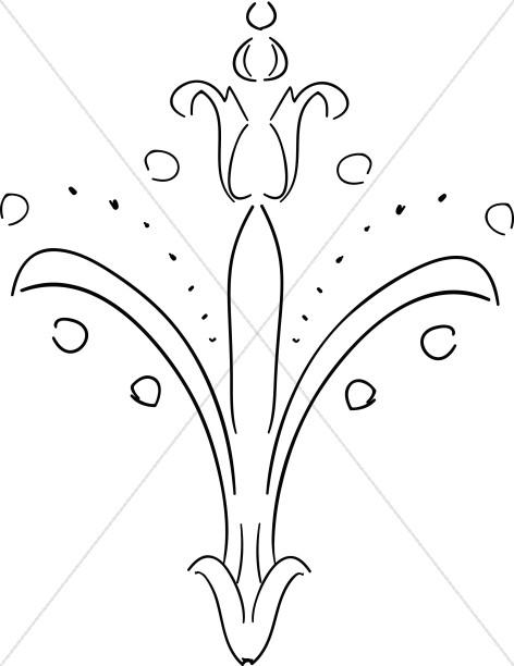 Line Art Fleur De Lis