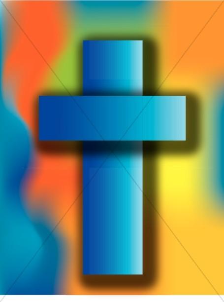 Rainbow Cross Graphic