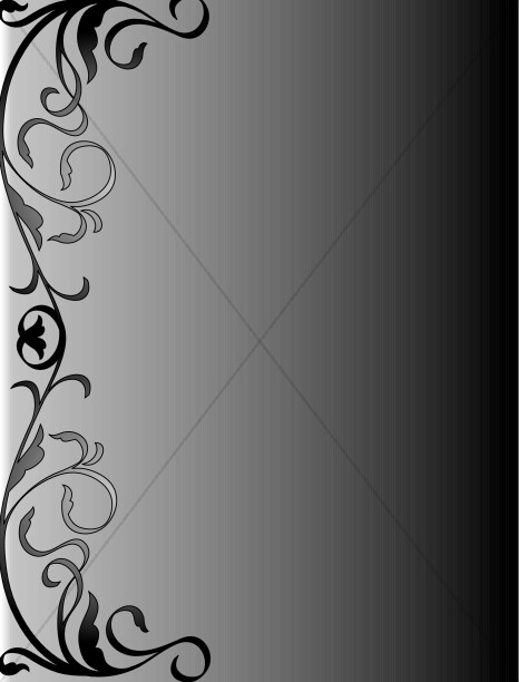 Black and Gray Swirly Background