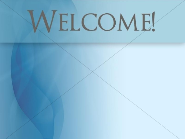 Welcome with Blue Waves