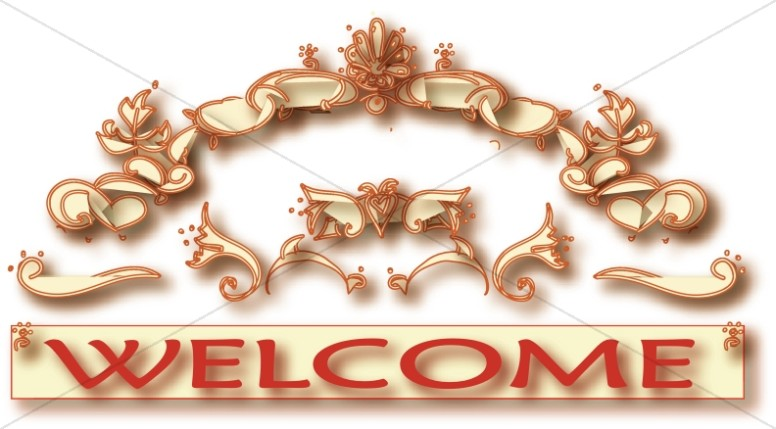 Decorative Welcome Graphic
