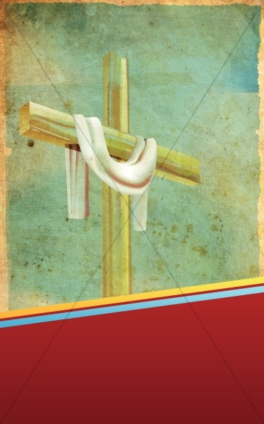 Draped Cross Bulletin Cover