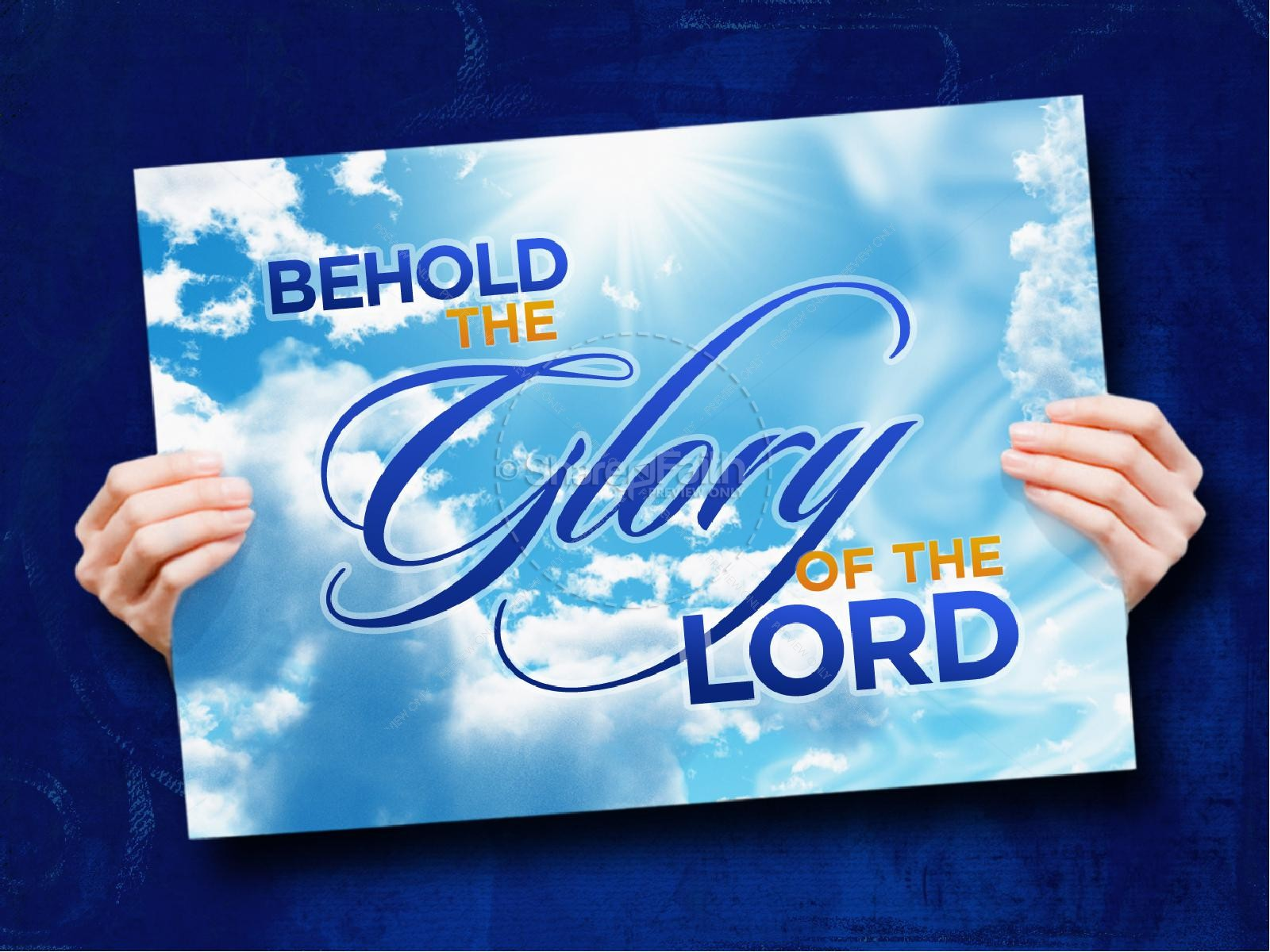 The Glory Of The Lord PowerPoint Sermon