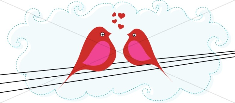Love Birds Valentines Day Clipart