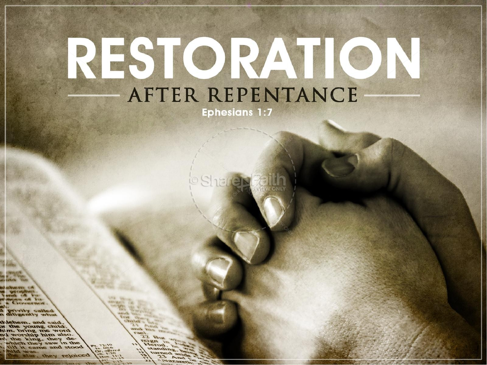 restoration christian powerpoint template lent powerpoints. Black Bedroom Furniture Sets. Home Design Ideas