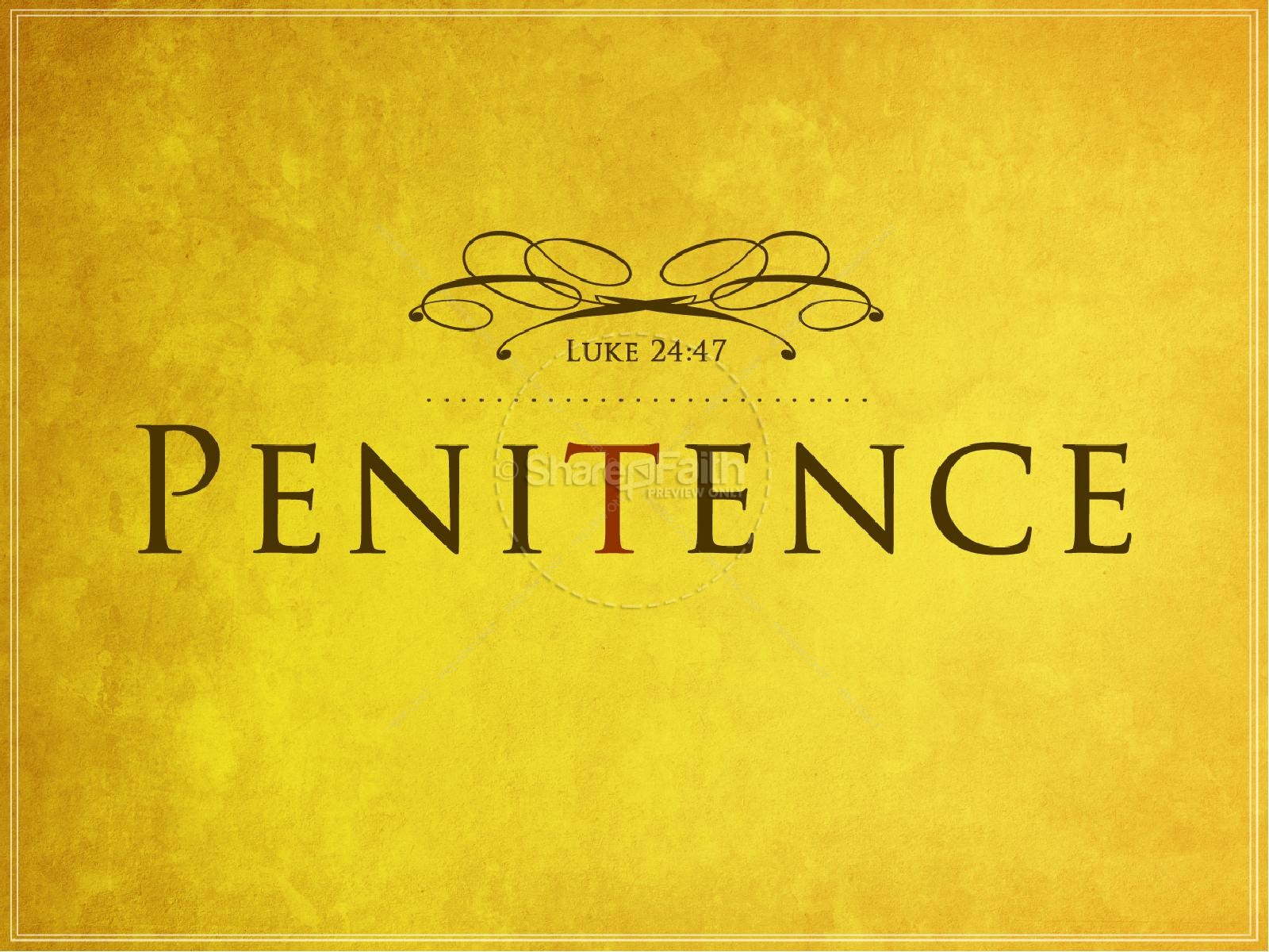Penitence Christian PowerPoints Lent PowerPoints