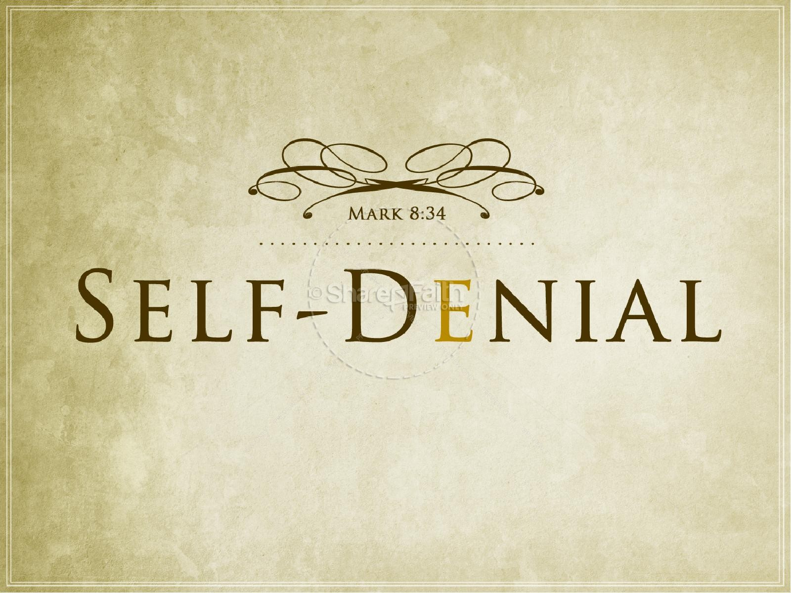 Self Denial Christian PowerPoint Template