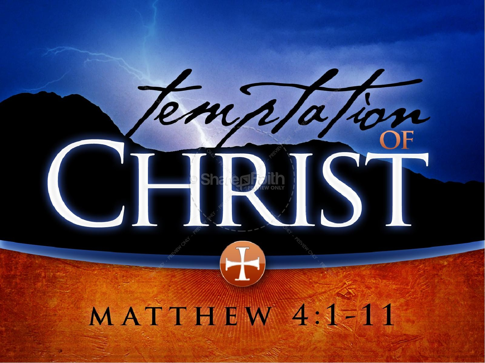 Temptation of Christ Church PowerPoint