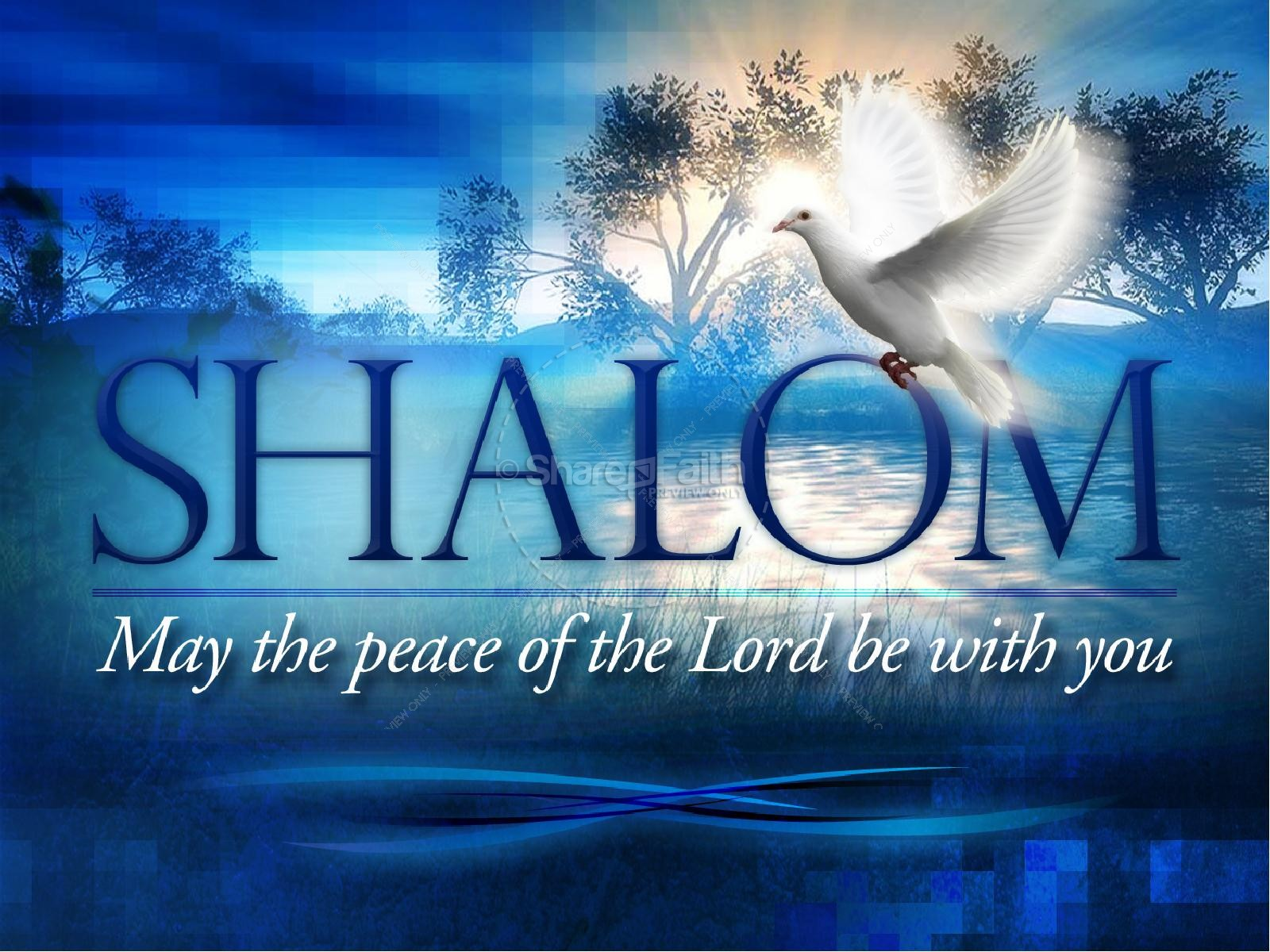 Shalom Christian PowerPoint Template | slide 1