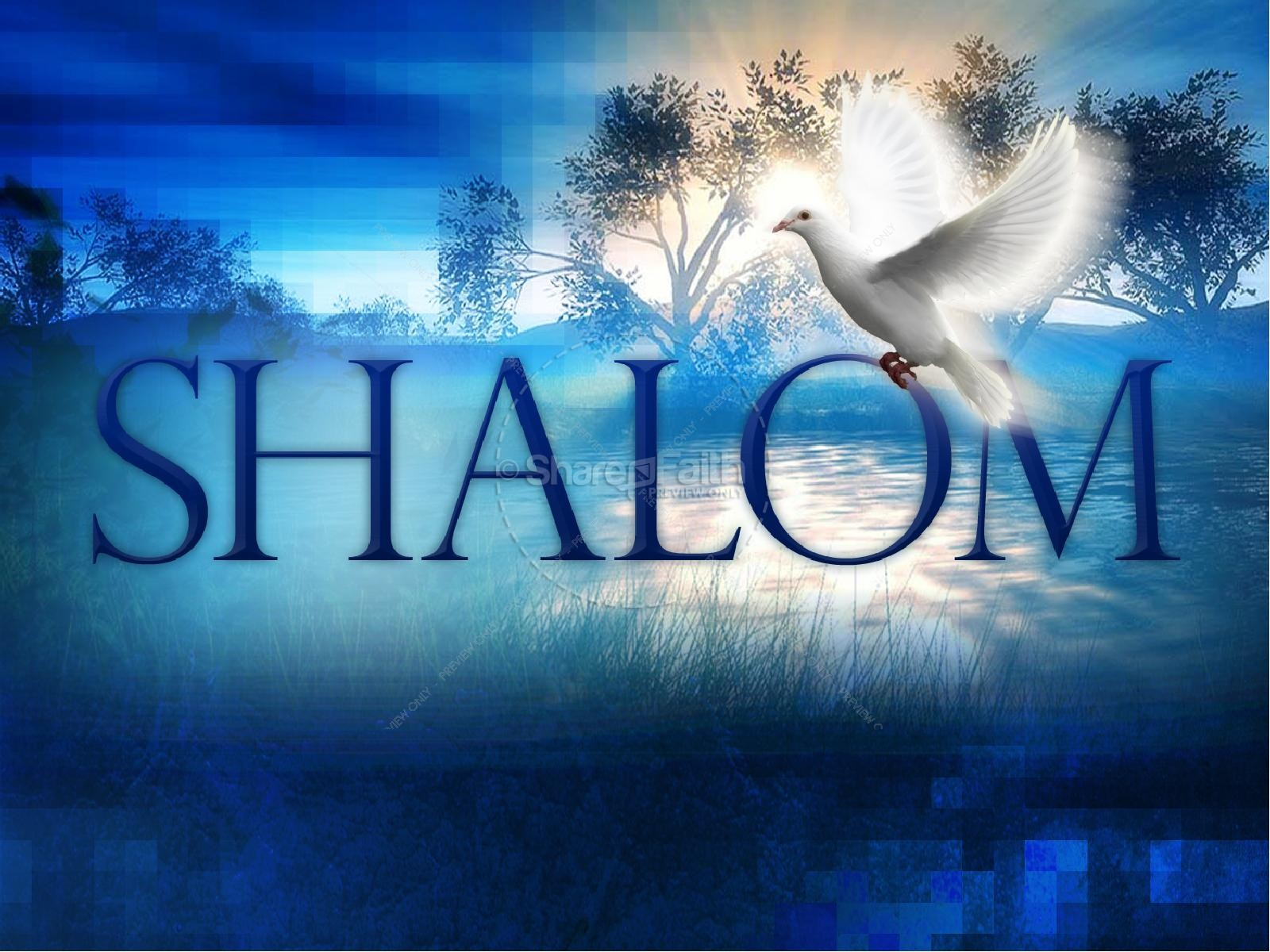 Shalom Christian PowerPoint Template | slide 2