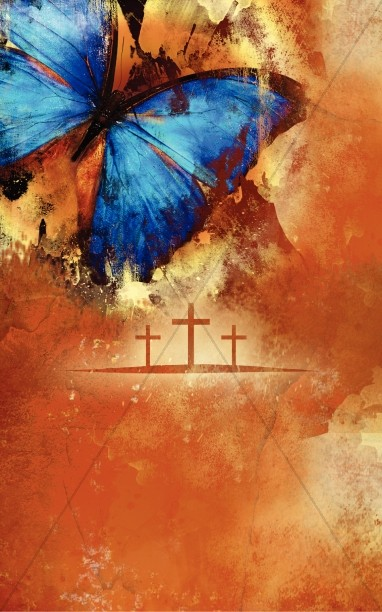 Easter Cross Church Bulletin Cover