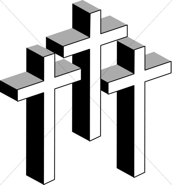 Line Art Crosses