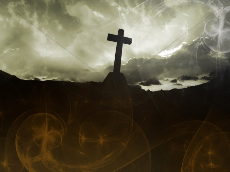 Cross on Hill Worship Backround