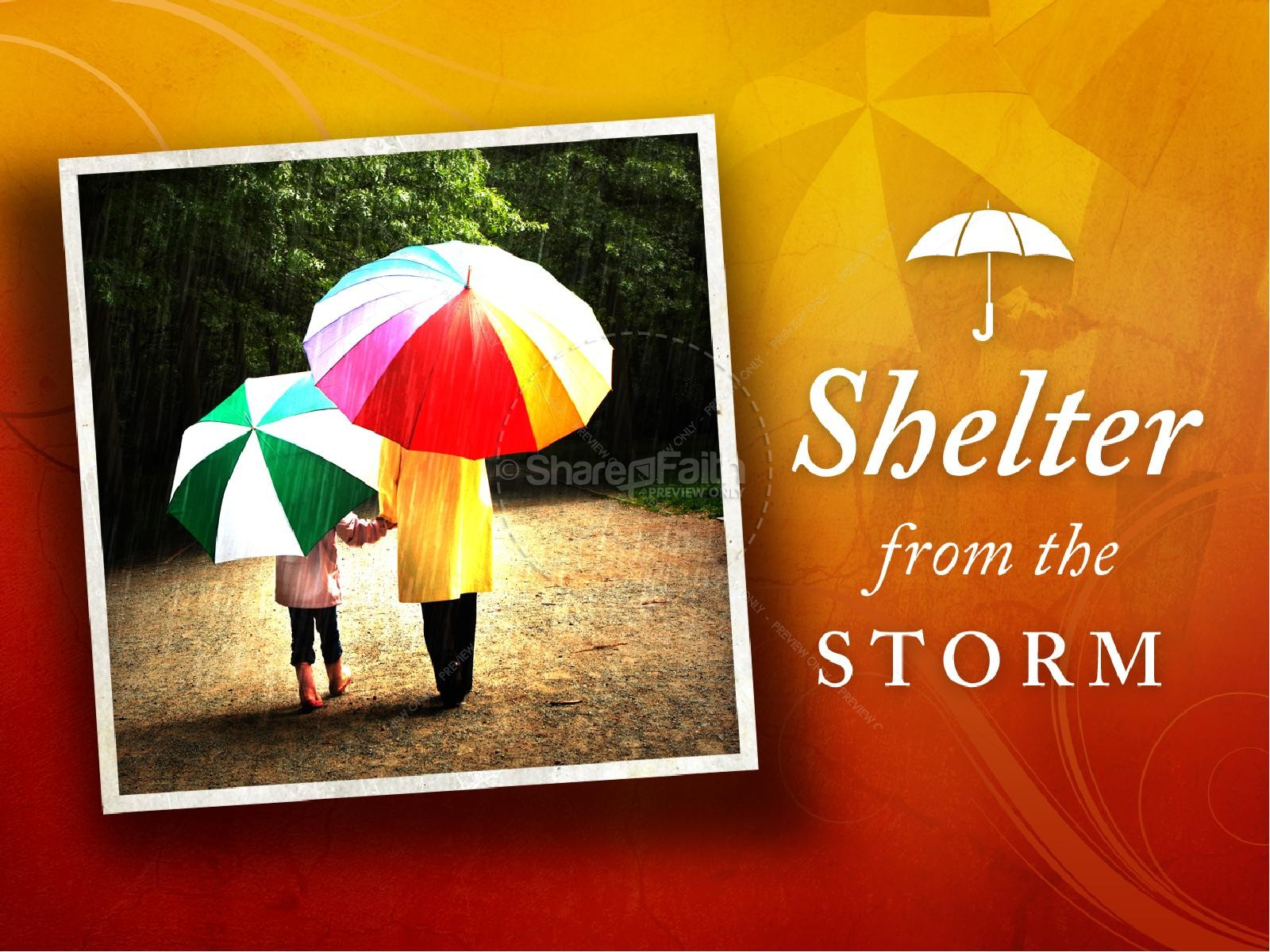 Shelter From The Storm Mothers Day PowerPoint