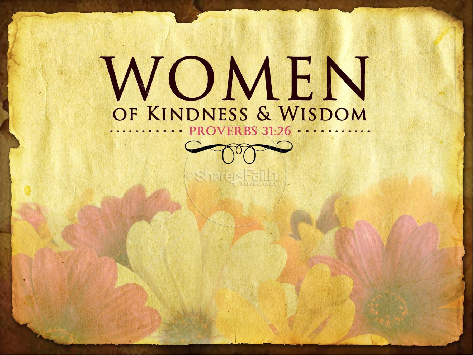 Women of Wisdom Church PowerPoint | slide 2