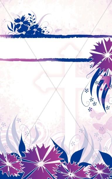Floral Cross Bulletin