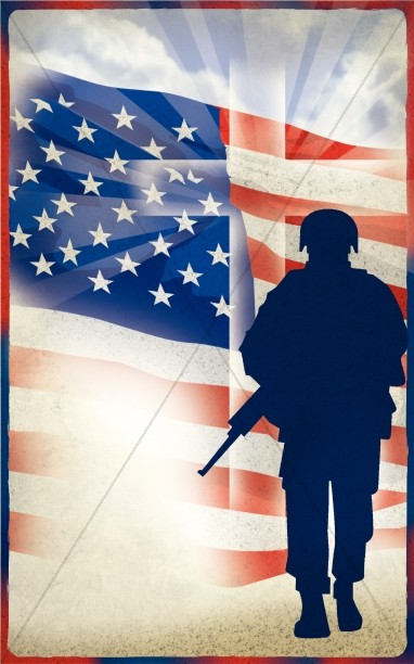 Memorial Day Church Bulletin Cover