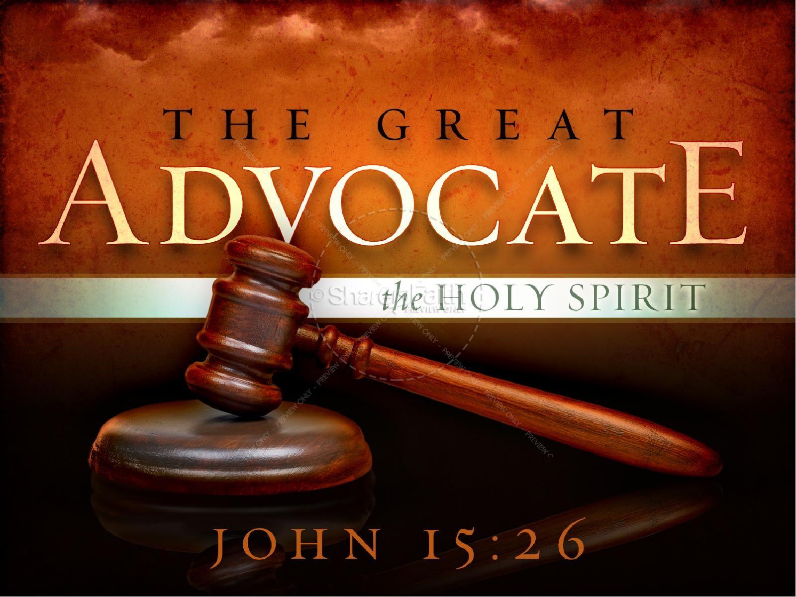 Holy Spirit Great Advocate Sermon PowerPoint | slide 1