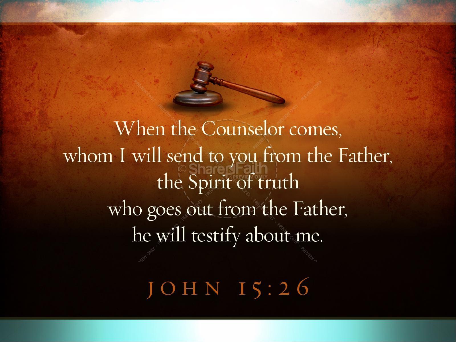 Holy Spirit Great Advocate Sermon PowerPoint | slide 6