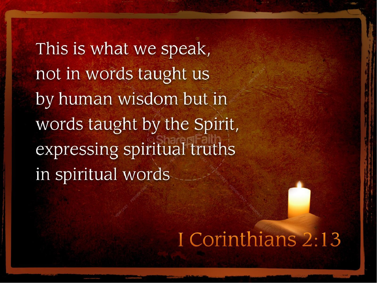 Spirit of Truth PowerPoint Template for Pentecost