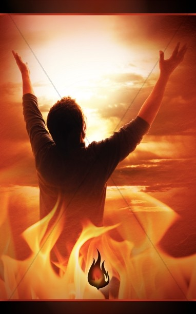 Outpouring of the Spirit Pentecost PowerPoint Template ...
