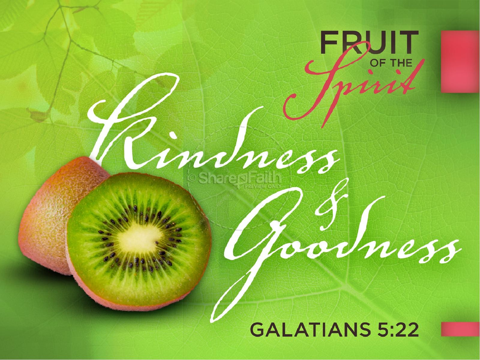 Kindness and Goodness Fruit of the Spirit PowerPoint Template