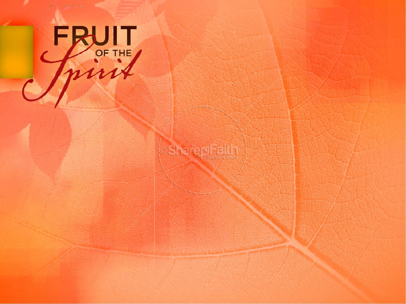 gentleness fruit of the spirit powerpoint template pentecost
