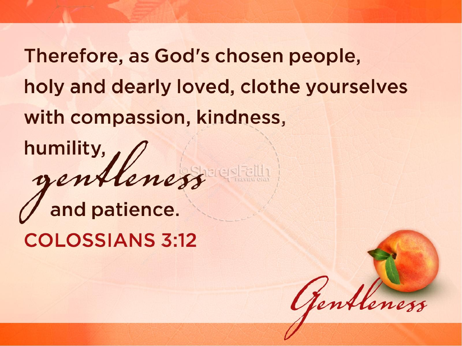 Gentleness Fruit Of The Spirit Powerpoint Template