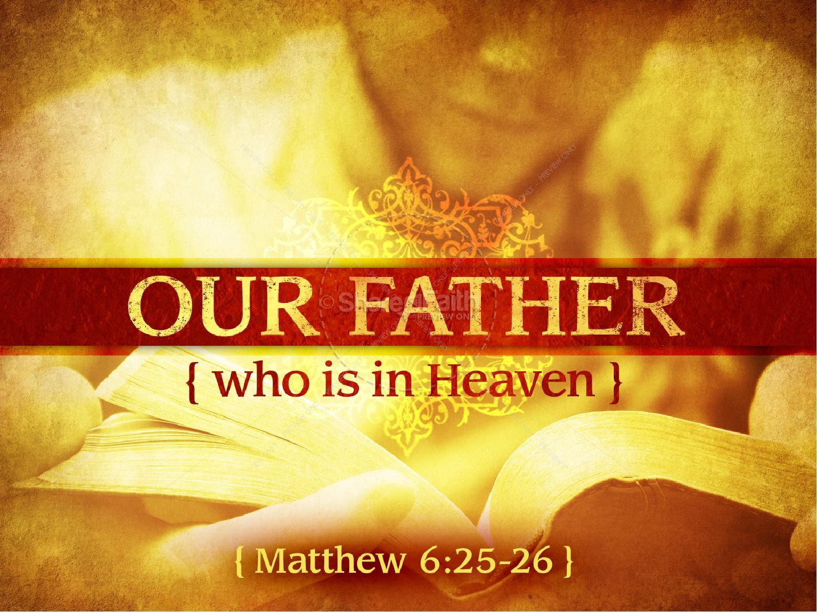 Our Father In Heaven PowerPoint Template