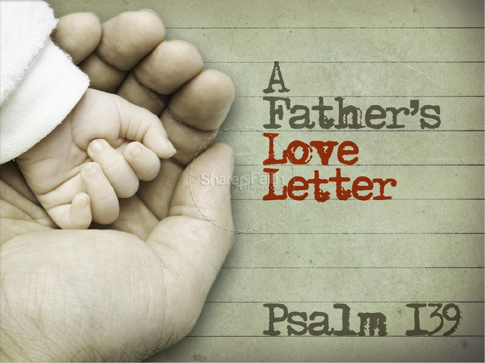 Father Love Letter PowerPoint Templates