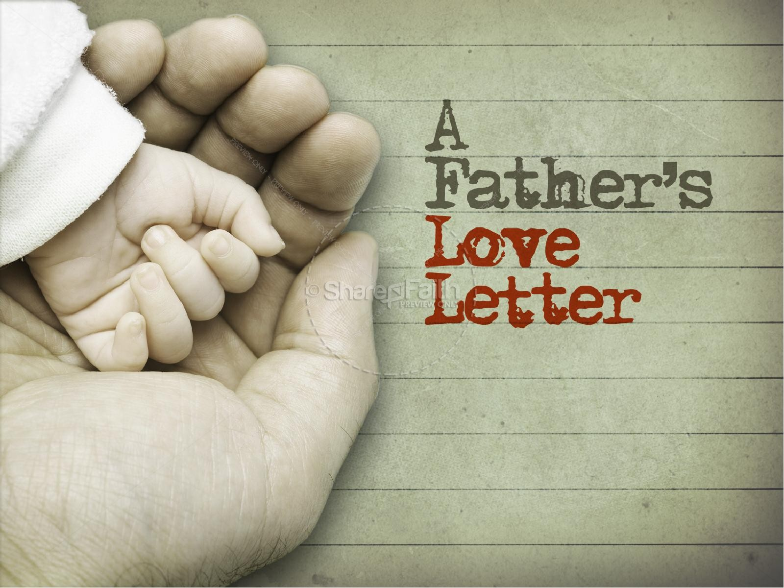 Father Love Letter PowerPoint Templates | slide 2