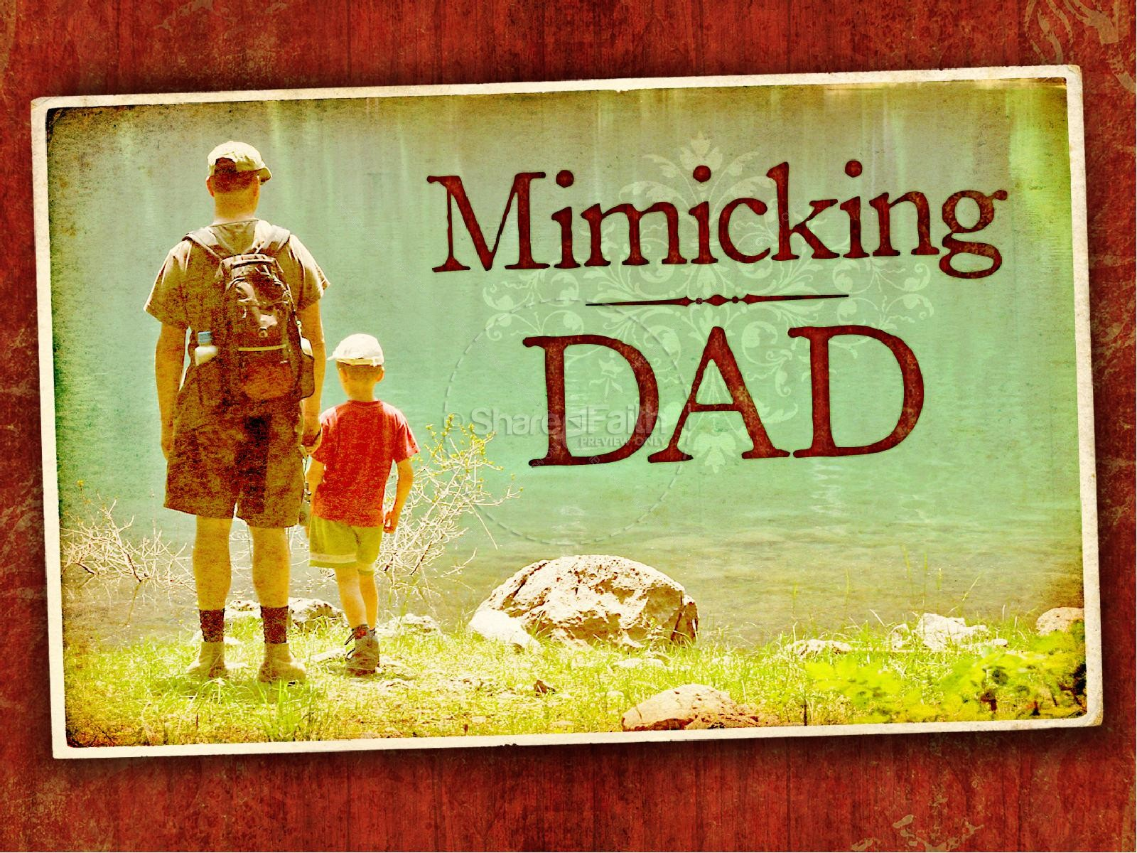 Mimicking Dad Father's Day PowerPoint Template | slide 3