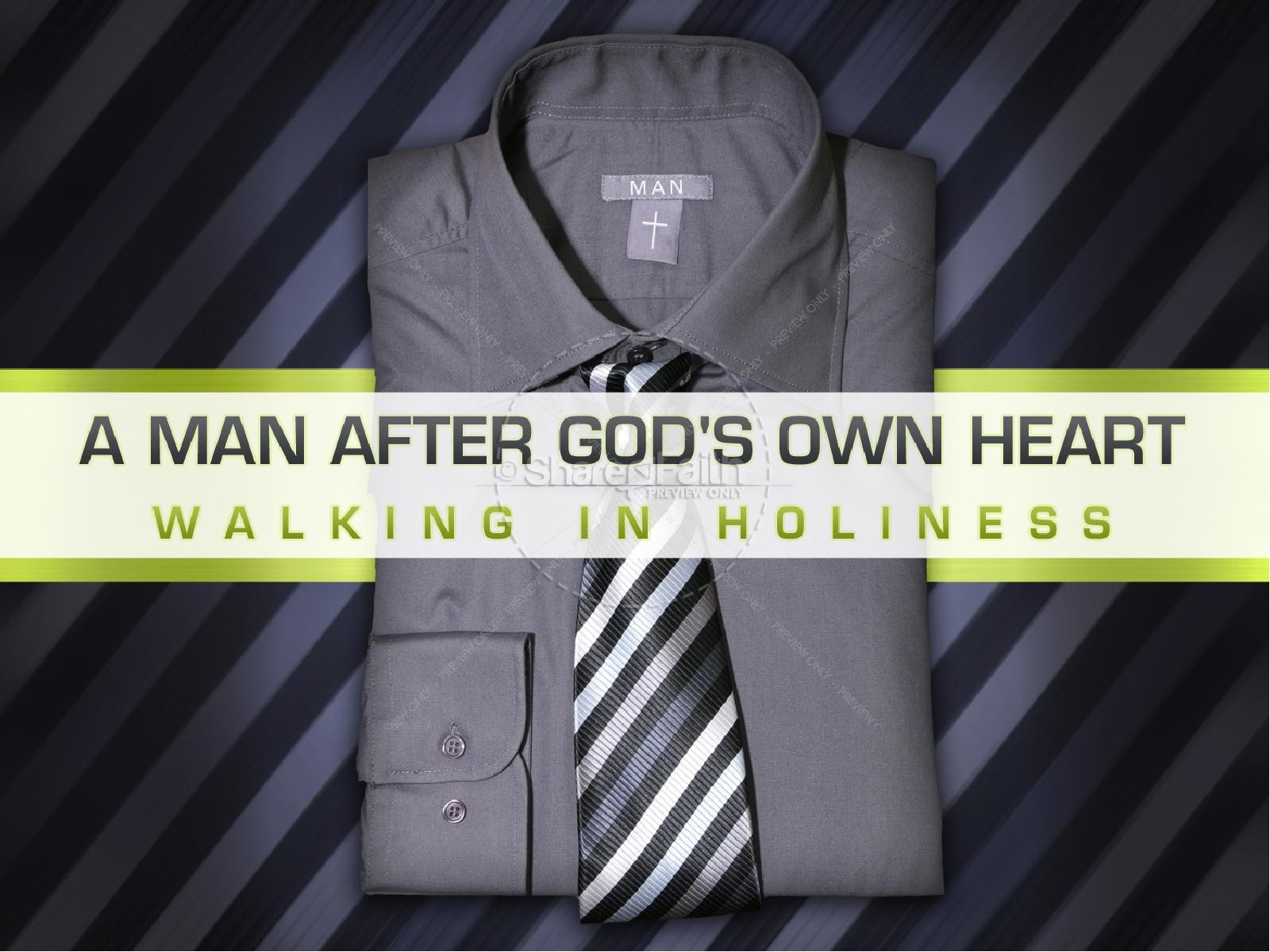 Man After God's Heart PowerPoint Template | slide 2