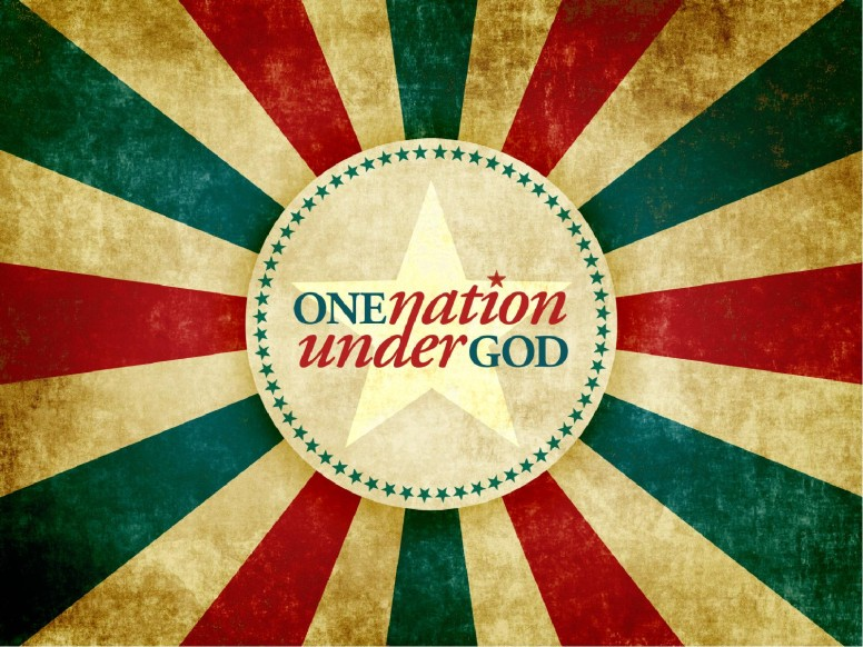 One Nation Under God Independance Day PowerPoint Template