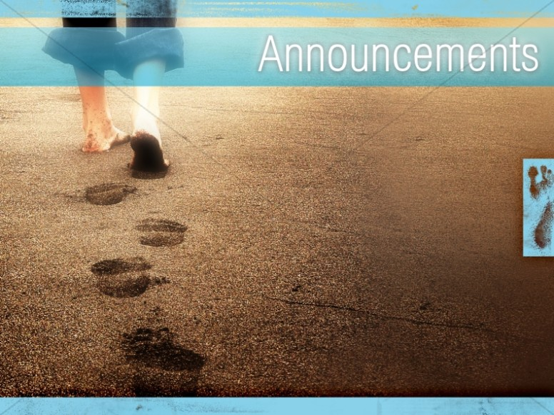 A Father's Footsteps Church Announcement Background ...