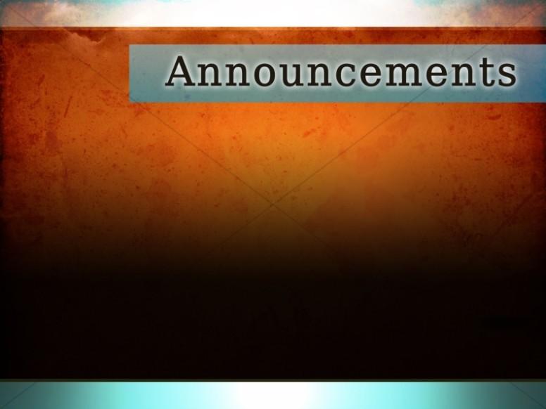 Church Announcements, Announcement Backgrounds ...