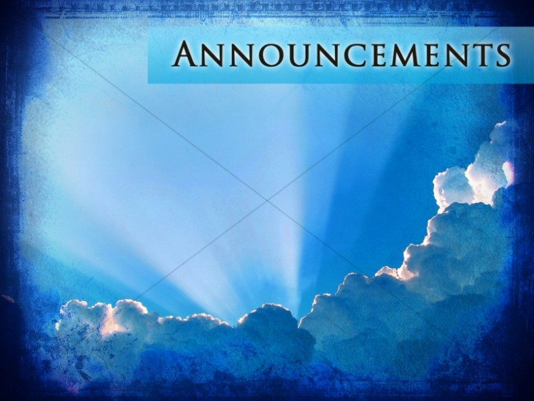 Great Intercessor Church Announcement Background