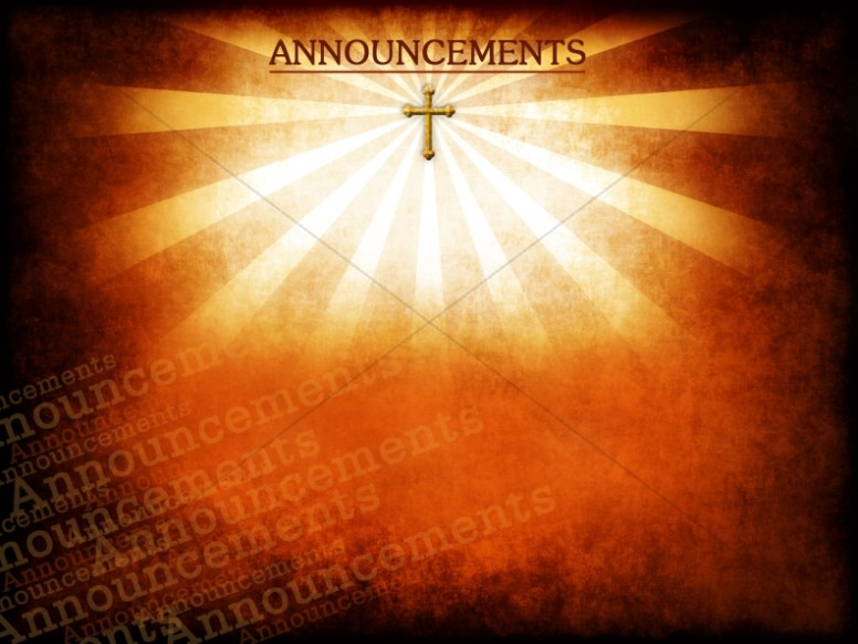 King Of Kings Church Announcement Background