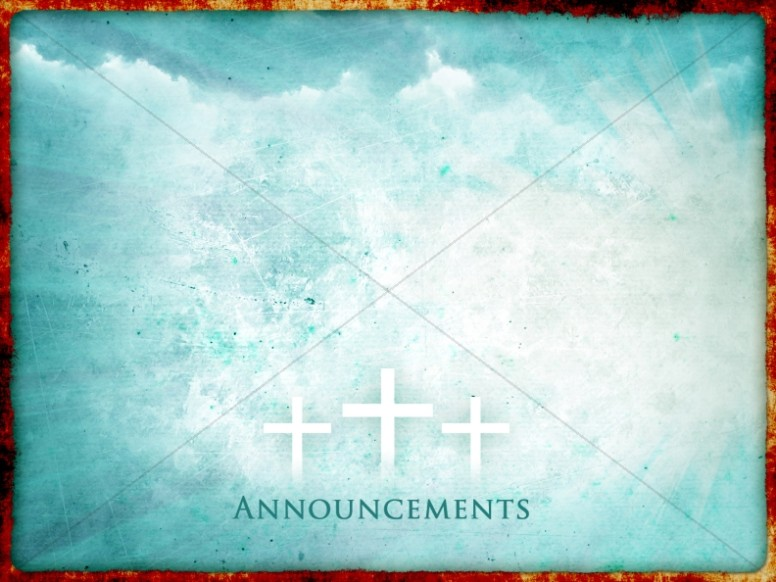 The Risen Christ Announcement Background