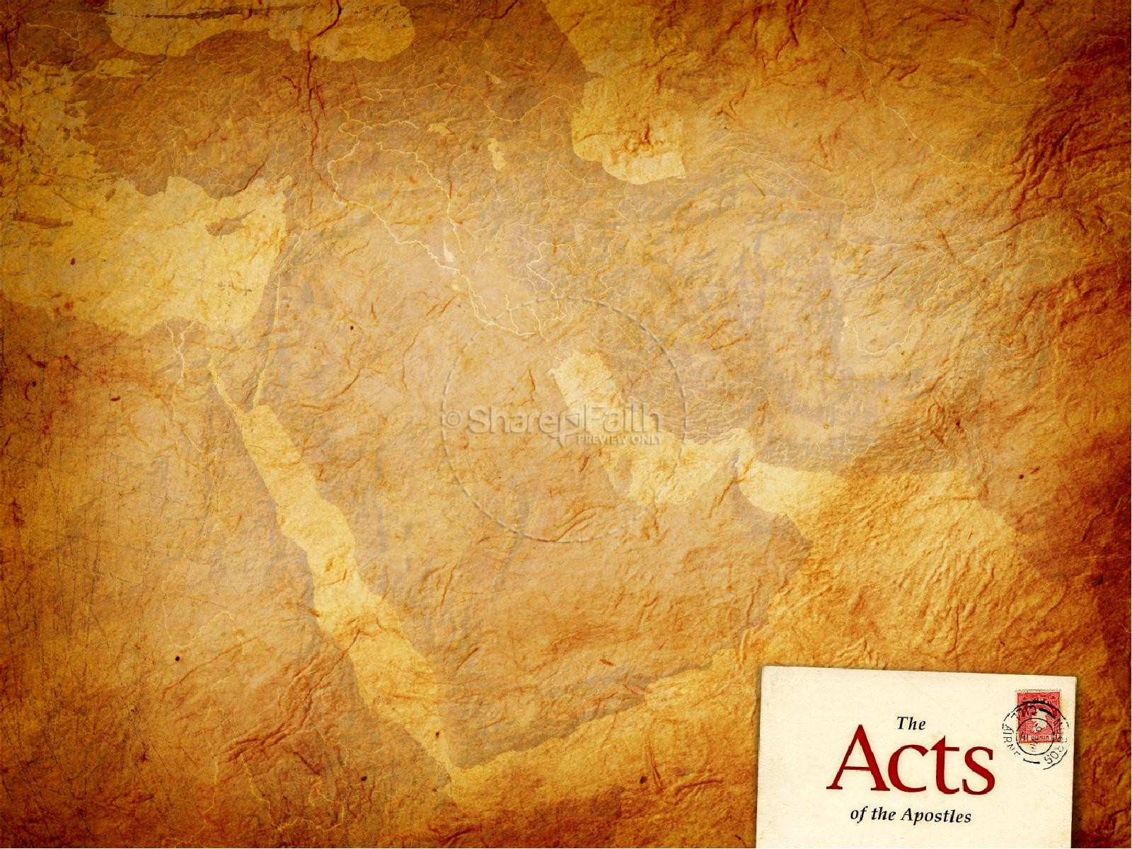 Acts Of The Apostles Powerpoint Template New Testament Books