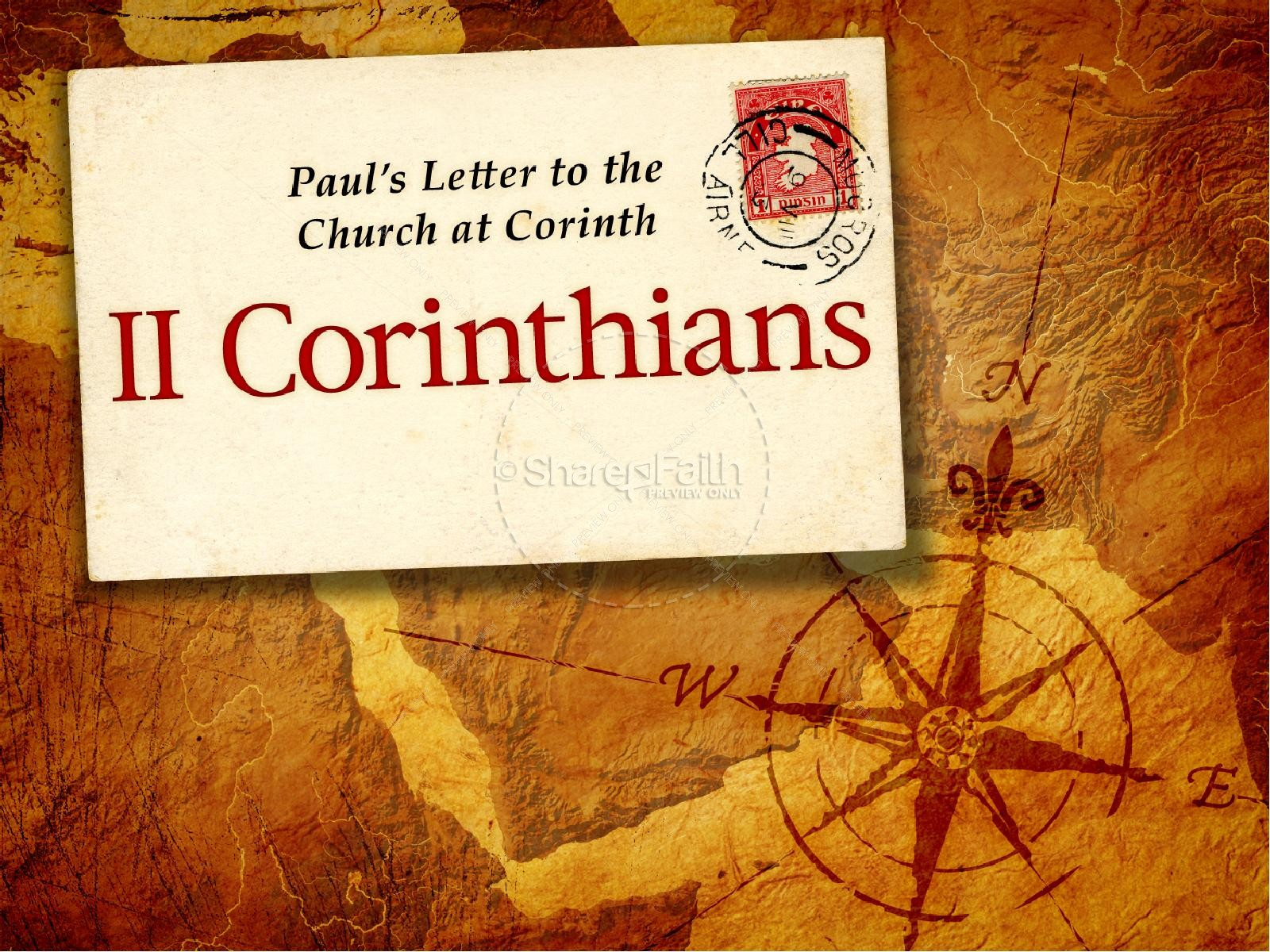 2 corinthians powerpoint template new testament books