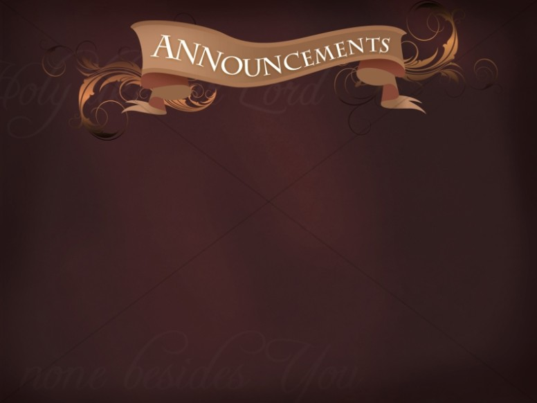 Banner Announcements Slide