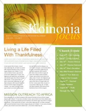 Palm Sunday Hosanna Newsletter
