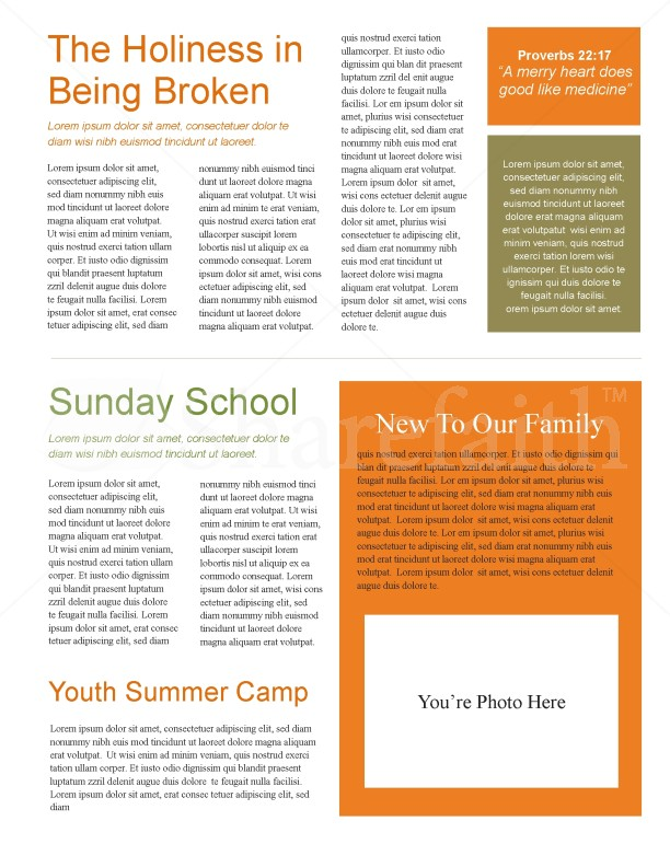 Walking In The Field Church Newsletter