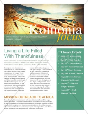 Fishers Of Men Church Newsletter