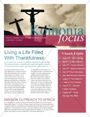 Jesus On The Cross Church Newsletter