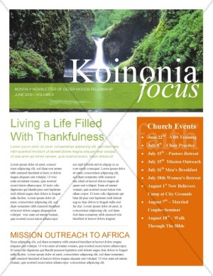 Waterfall Church Newsletter