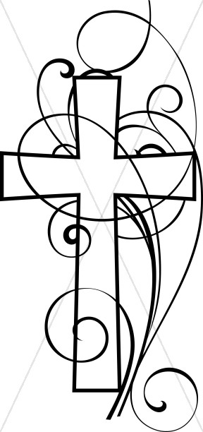 cross and swirls black and white christian clipart cross clipart rh sharefaith com christian clipart free printable christian clip art free images