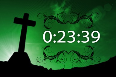 One Minute Cross Countdown Timer